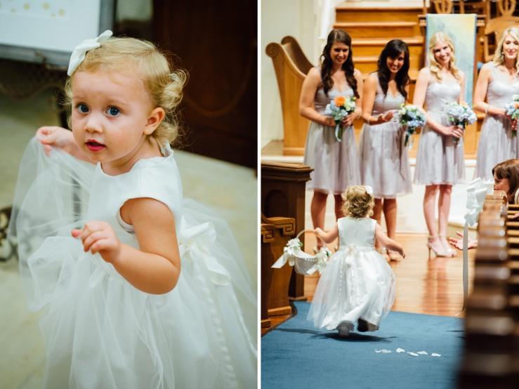 St Johns Church, Wedding Ceremony, Charlotte NC Wedding, wedding photography, flower girl, wedding ceremony