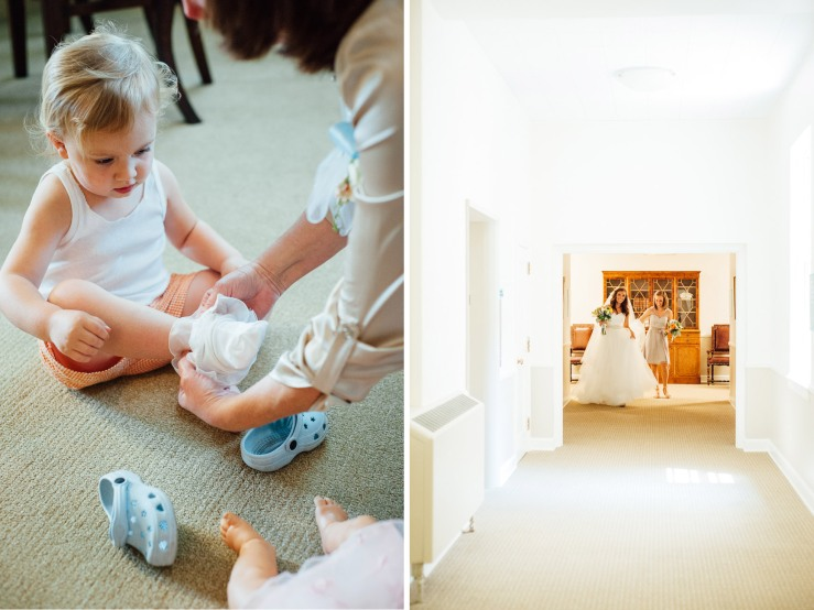 St Johns Church, Wedding Ceremony, Charlotte NC Wedding, wedding photography, flower girl getting ready