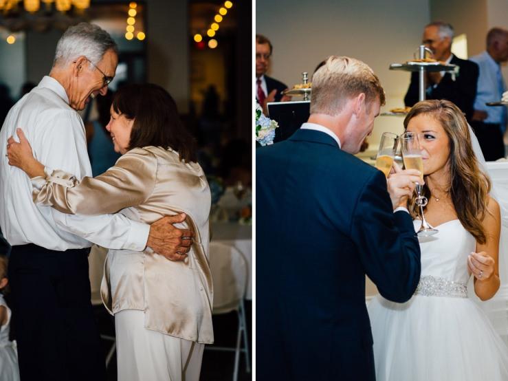 Carolina Golf Club, Wedding Reception, Charlotte NC Wedding, wedding photography, bride's parents dance, champagne toast