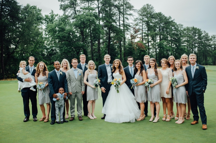 St Johns Church, Wedding Ceremony, Charlotte NC Wedding, wedding photography, wedding ceremony, bridesmaid and groomsmen, wedding party formal