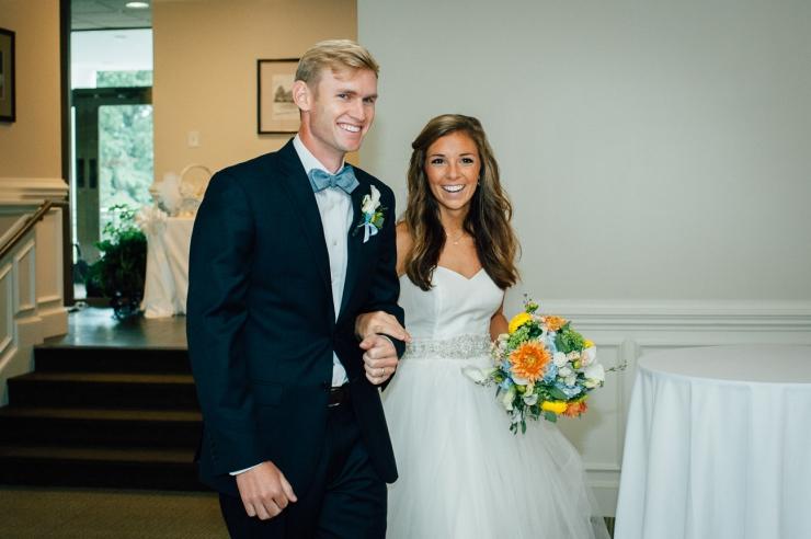 Carolina Golf Club, Wedding Reception, Charlotte NC Wedding, wedding photography, introducing newlyweds