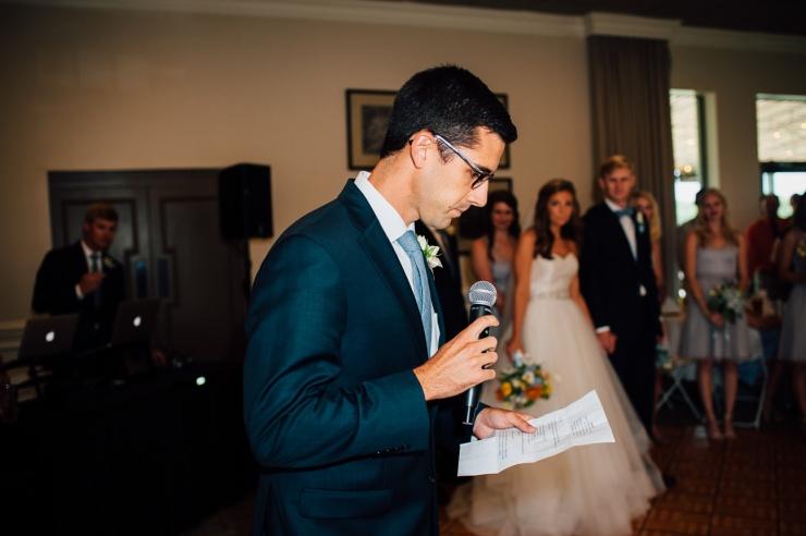 Carolina Golf Club, Wedding Reception, Charlotte NC Wedding, wedding photography, wedding ceremony, brother gives blessing