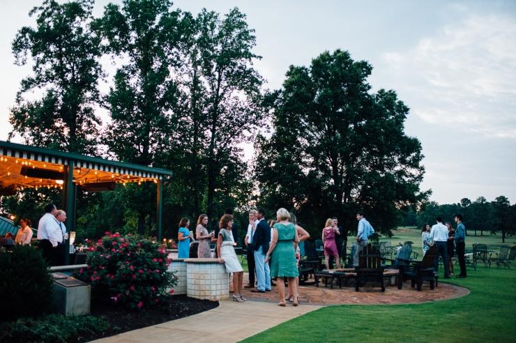 Carolina Golf Club, Wedding Reception, Charlotte NC Wedding, wedding photography, wedding ceremony, guests enjoy outdoor party