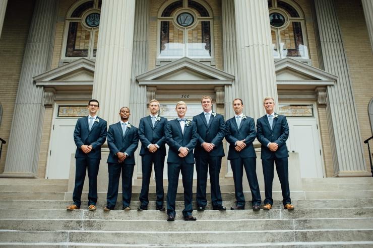 St Johns Church, Wedding Ceremony, Charlotte NC Wedding, wedding photography, groomsmen formal portrait