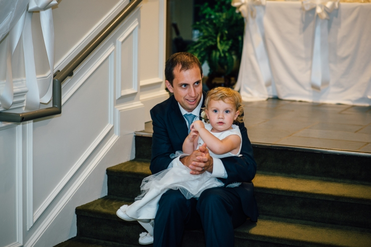 Carolina Golf Club, Wedding Reception, Charlotte NC Wedding, wedding photography, flower girl watches first dance with her father