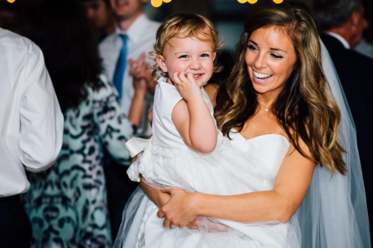 Carolina Golf Club, Wedding Reception, Charlotte NC Wedding, wedding photography, dancing at reception, bride dances with flower girl