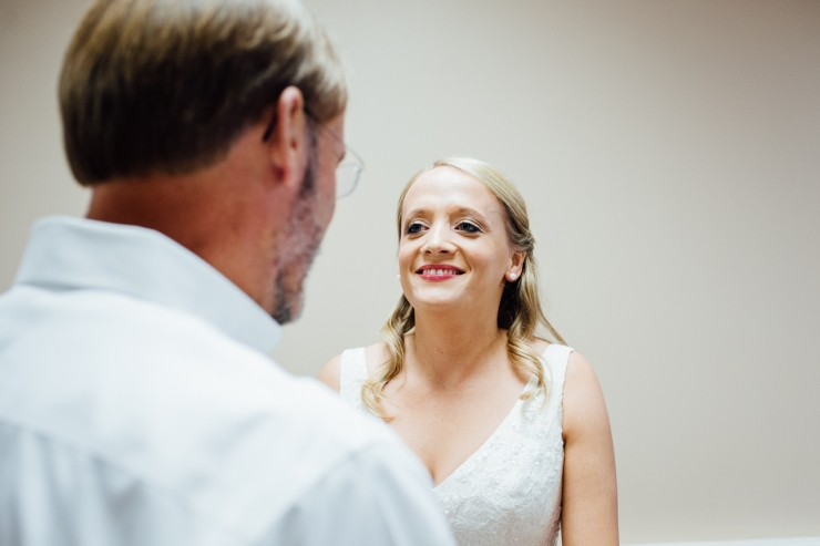 Image of first look with bride and her father