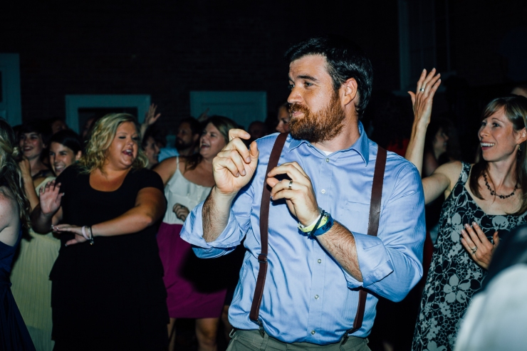 Image of wedding guest dancing