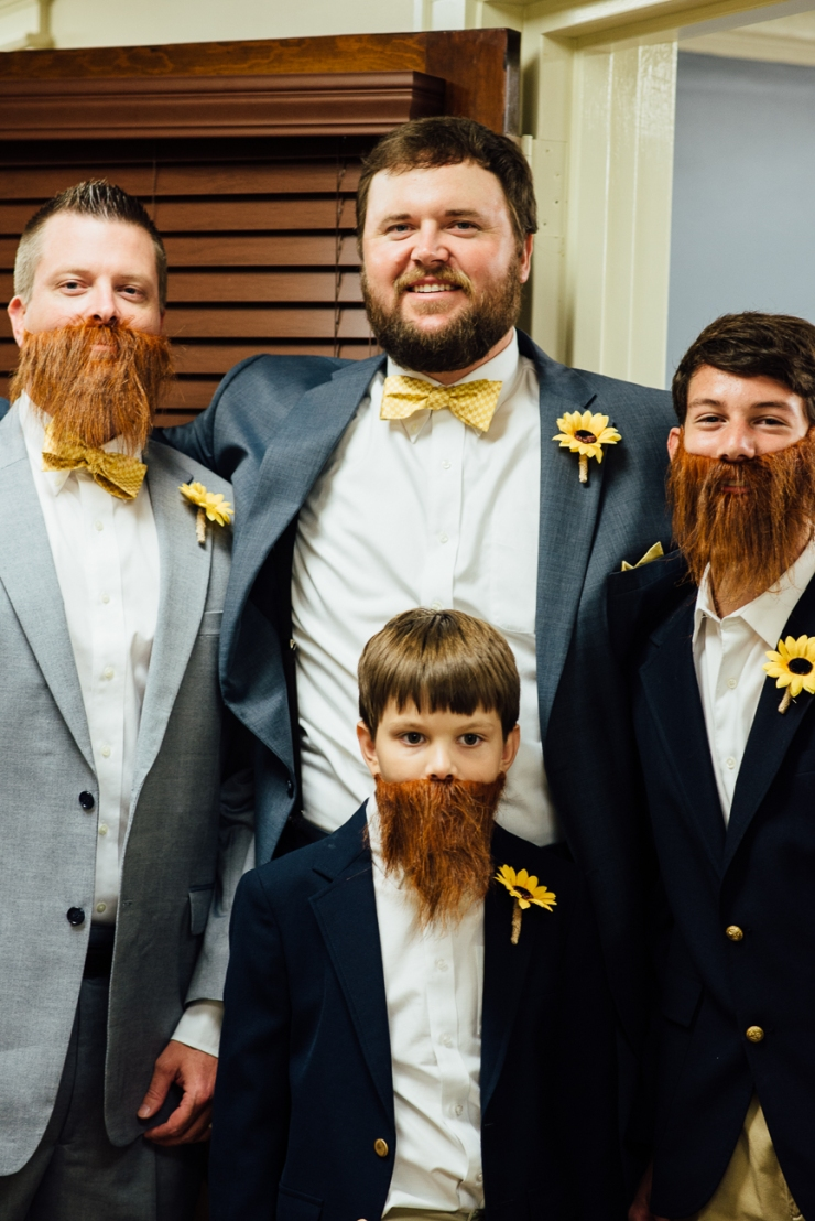 Image of Grooms with groomsmen in mustaches