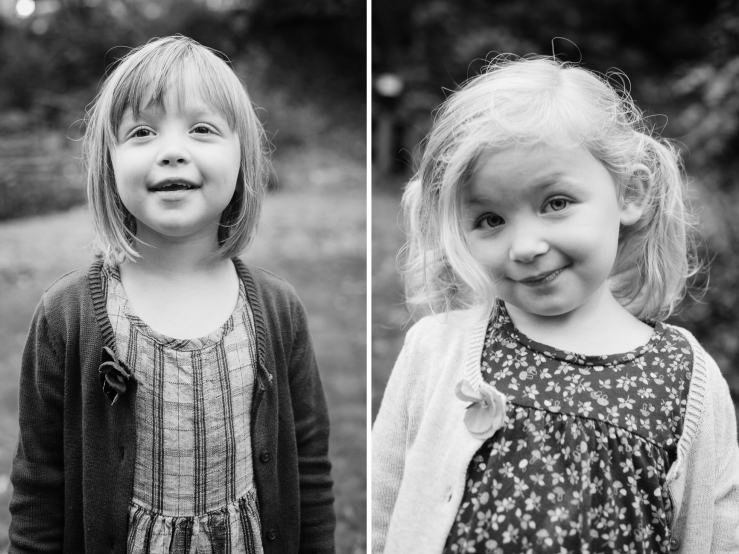 Image of young sisters having portraits made during a family photo shoot in a Greenville SC park