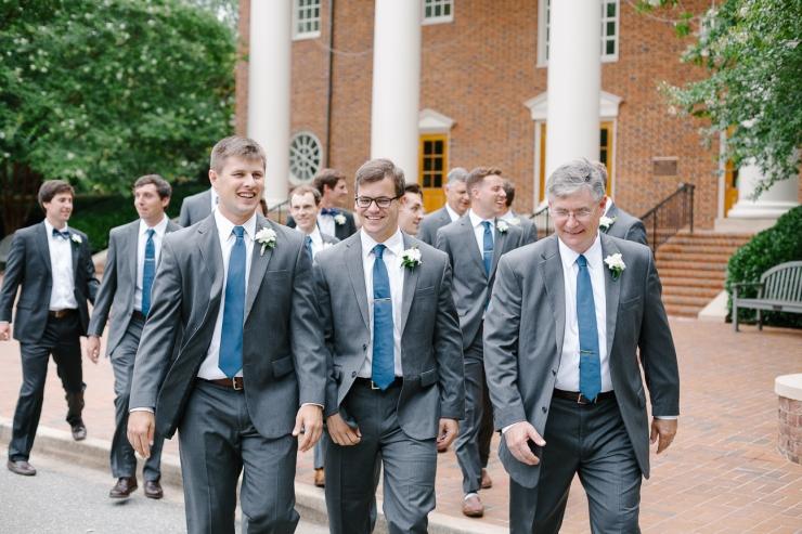 groomsmen walk around Furman, groomsmen portraits, Furman chapel, Furman wedding, greenville wedding photography