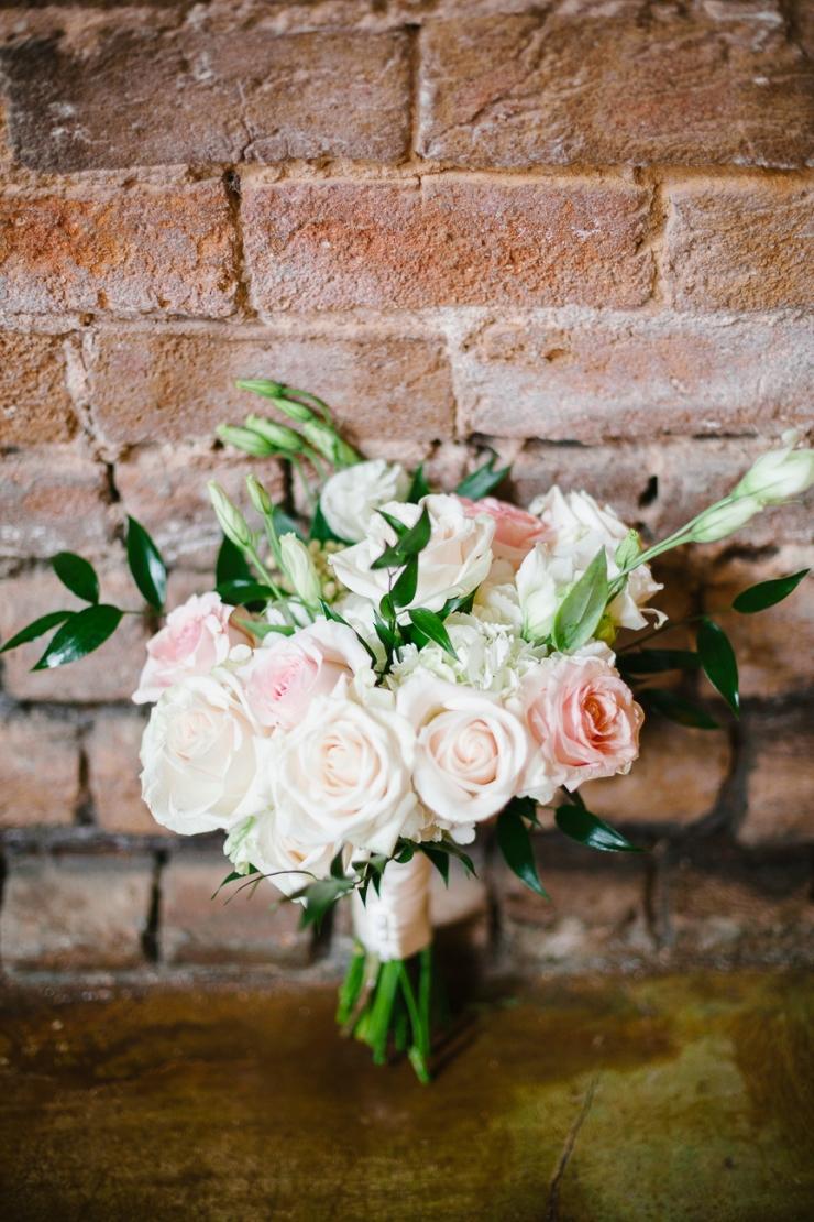 bridesmaids bouquet, david austin roses, garden roses, florals, greenery, greenville sc wedding photographer, furman wedding, greenville wedding photography