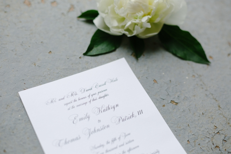 wedding invitation with flower, wedding stationary, paper suite, greenville sc wedding photographer, furman wedding, greenville wedding photography