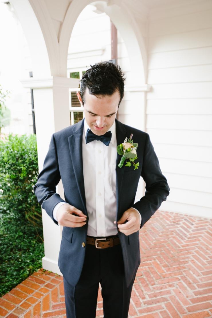 Groom buttons navy JCrew wedding suit