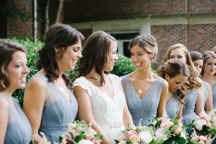bridesmaids laugh before ceremony Memphis TN
