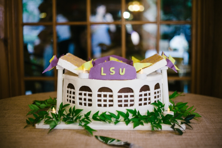 LSU grooms cake, memphis tn wedding reception at zoo