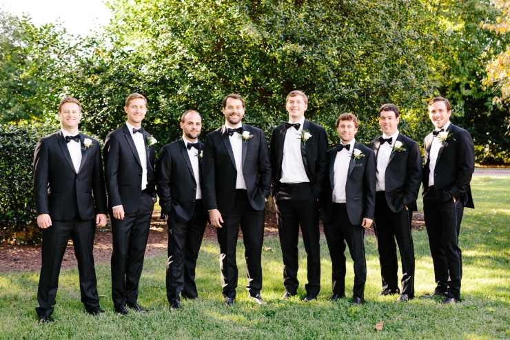 Groom and groomsmen portrait, memphis tn wedding