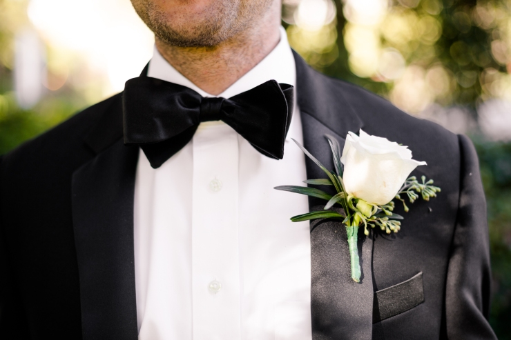 groomsmen bowtie and boutonniere, Memphis TN Wedding