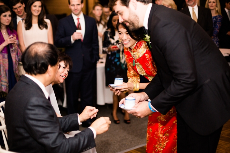 Chinese tea ceremony at reception, memphis TN wedding